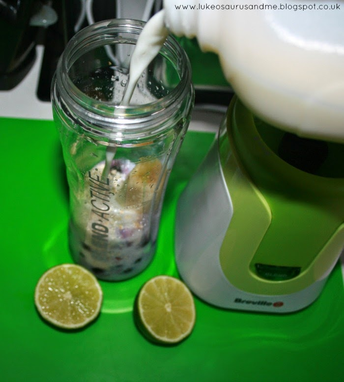 Milk In Smoothies from Toddler In The Kitchen: Smoothies Using Breville's Blend-Active, from lukeosaurusandme.co.uk