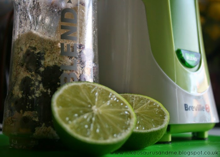 Limes, oats and berries from Toddler In The Kitchen: Smoothies Using Breville's Blend-Active, from lukeosaurusandme.co.uk