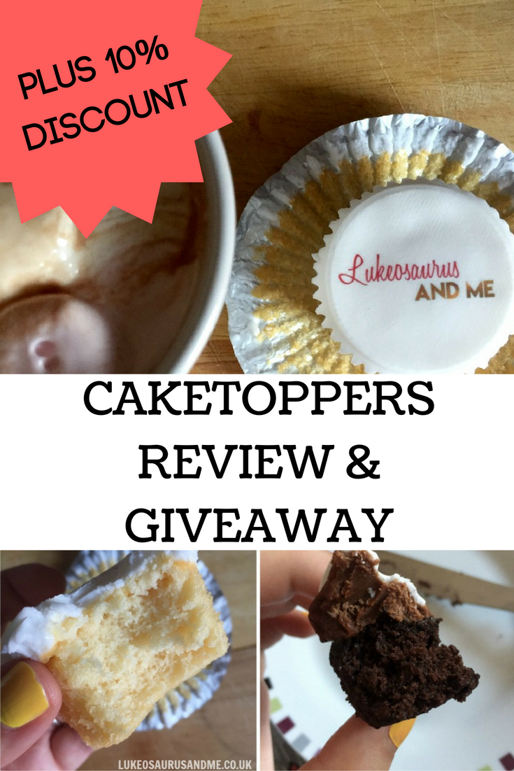 Personalised cake and cupcakes. Caketoppers review and giveaway at http://lukeosaurusandme.co.uk