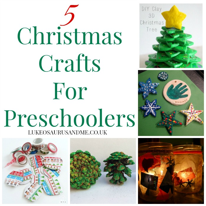 5 Christmas Crafts for preschoolers at http://lukeosaurusandme.co.uk