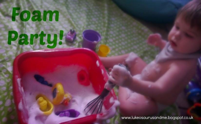 Sensory Foam Play at lukeosaurusandme.co.uk