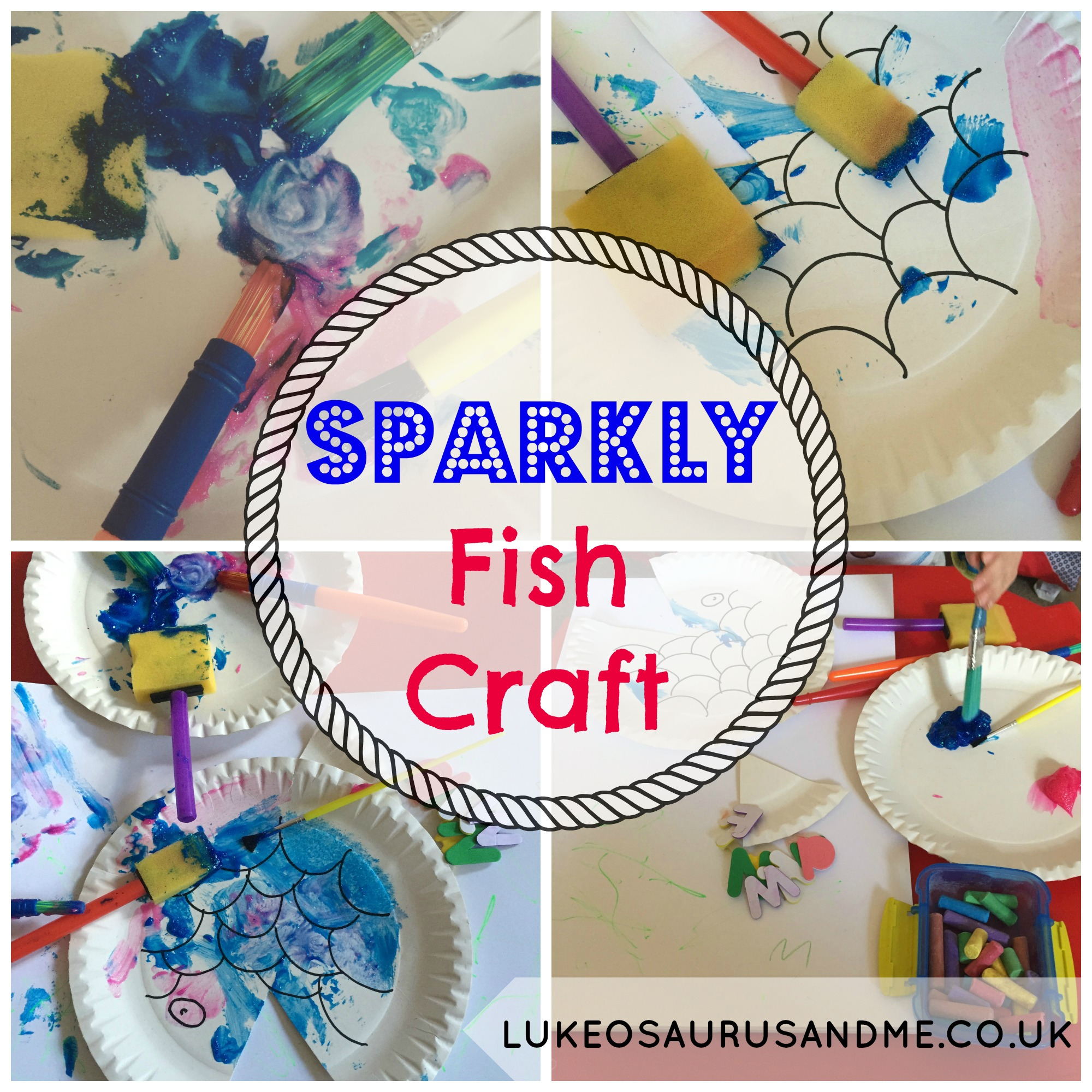 Sparkly Fish Craft for toddlers using paper plates from lukeosaurusandme.co.uk