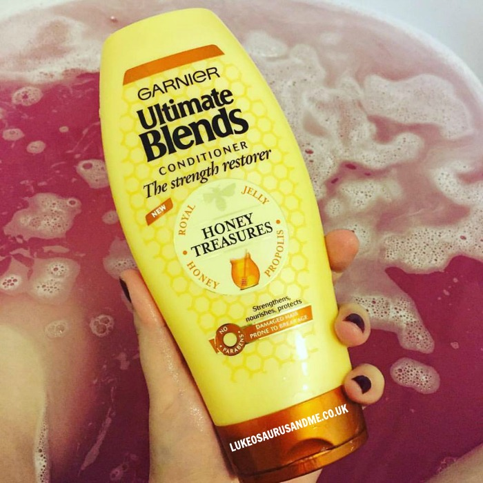 Garnier Ultimate Blends Honey Treatment Conditioner review at https://lukeosaurusandme.co.uk