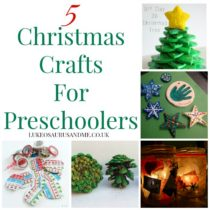 5 Christmas Crafts for preschoolers at https://lukeosaurusandme.co.uk