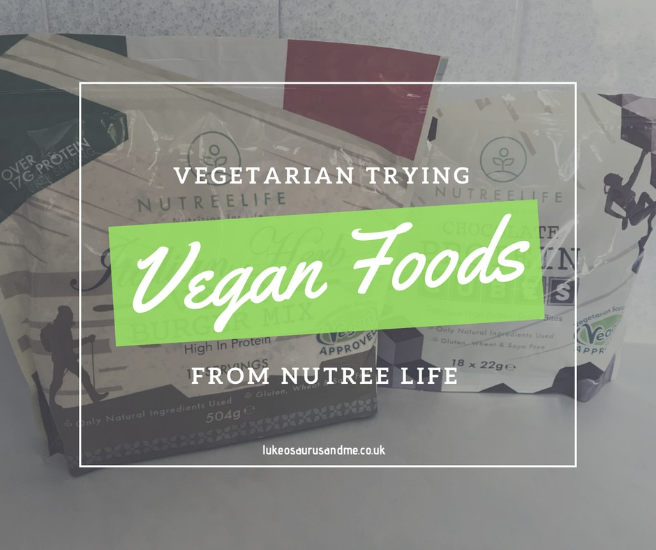 Nutree Life Vegan Burger Mix and Chocolate Protein Cubes review at https://lukeosaurusandme.co.uk