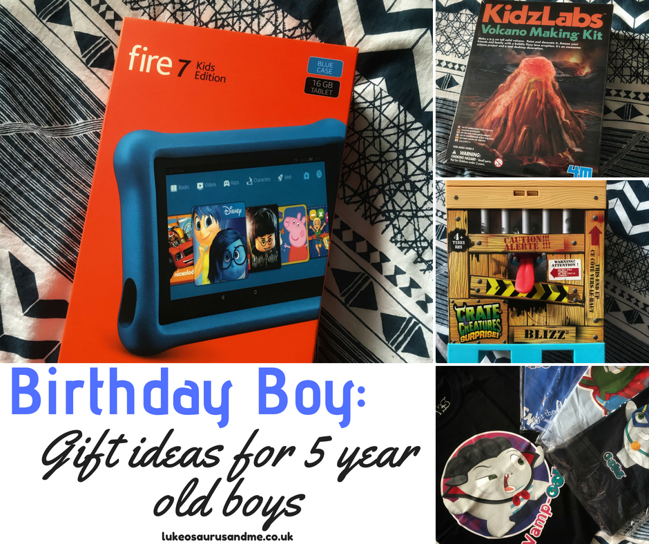 Birthday gift ideas for 5 year old boys at https://lukeosaurusandme.co.uk