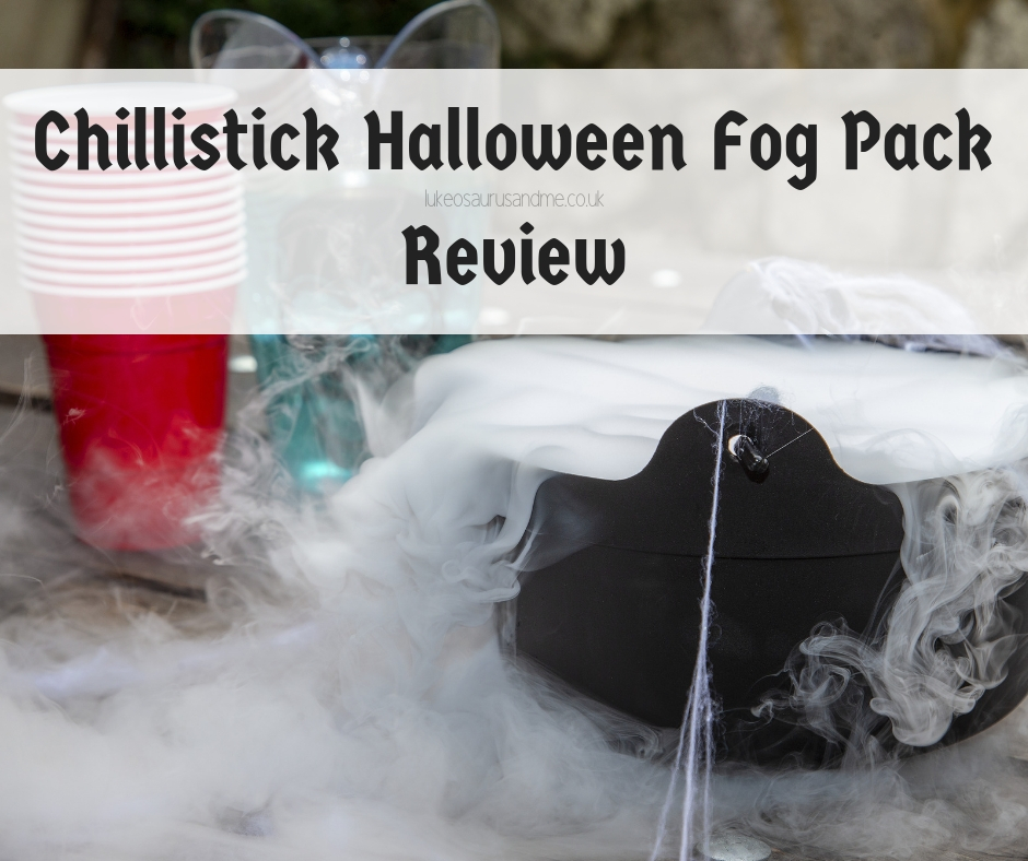 Chillistick's Halloween Fog Pack review at https://lukeosaurusandme.co.uk