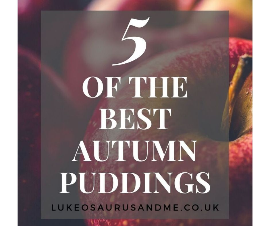 blurred out dark image of apples for a blog post on 5 of the best autumn puddings